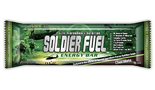 Soldier Fuel Steady Energy Bars, Real Chocolate (Box of 15)