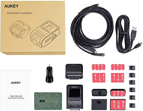 AUKEY 1080p Dashcam Vorne und Hinten【Verbesserter Sensor】Autokamera mit 170 Grad Weitwinkel, Superkondensator, WDR Nachtsicht Kamera für Auto mit G-Sensor, Bewegungserkennung, Loop-Aufnahme - 9