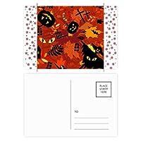 漫画の深い森のハロウィン クリスマスの花葉書を20枚祝福する