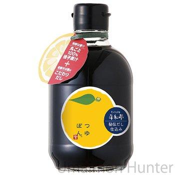 つゆぽん 300ml×6本 平和亭 ゆず果汁の生搾りのみ100%使用 香り高く、秘伝のそばつゆが旨い! お酢を使っていないので、酸味の苦手な方にもオススメの万能調味料