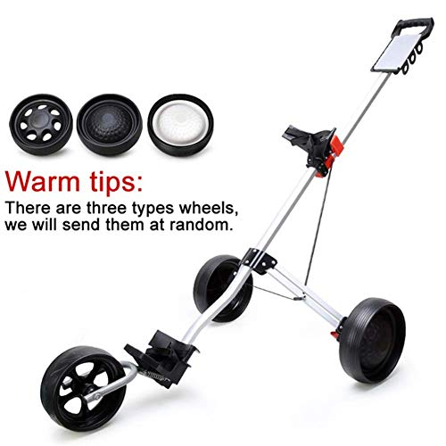 KAIGE Golf Push Cart |Faltbare Golf Trolley |3-Rad-Golf Cart |Golf-Trolley Electric |Elektrische Golf-Trolley |Rad Push-Pull-Golf Cart Fitnessgeräte WKY