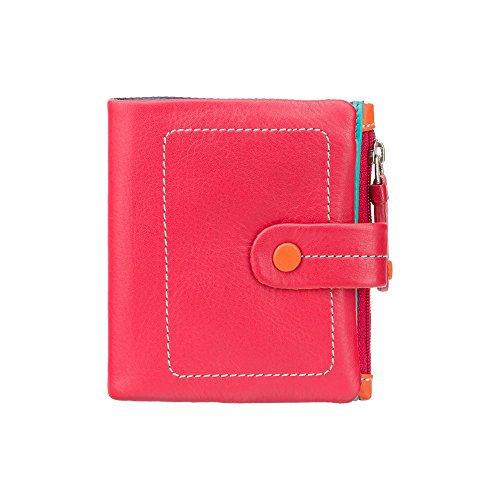 VISCONTI  Portafoglio Donna Vera Pelle con Portamonete Donna Portafogli Porta Banconote Borsellino -'MIMI' (M77 Rosso Multi)
