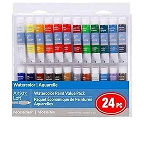 24 Color Necessities Watercolor Paint Value Pack by Artist's Loft
