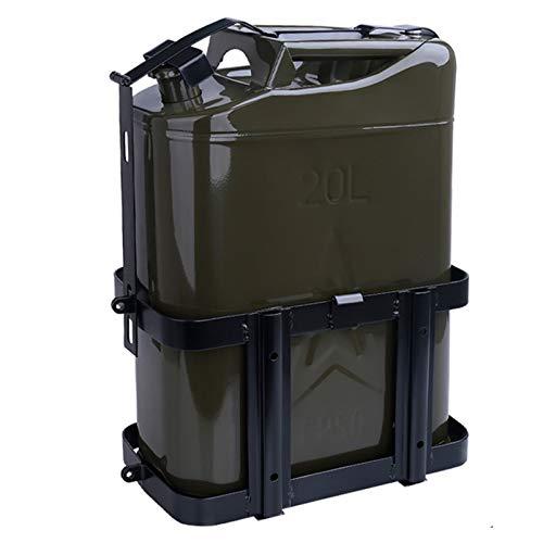 Lata de Combustible de 10L / 20L, Tanque de Combustible Verde con Pico Universal, Soporte de Lata de Gasolina, portátil, a Prueba de derrames, para automóviles y Motocicletas