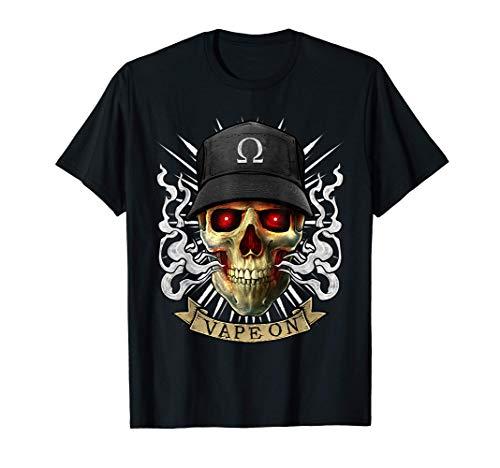 Vaping Skull Illustration | E-Cigarette Cloud Vape T-Shirt