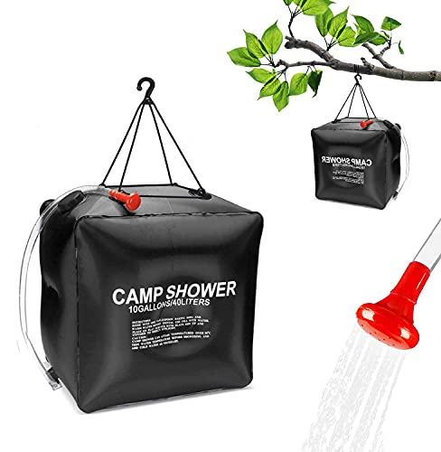 Shengruili Solardusche Camping,40L Campingdusche Solardusche,Solar Tragbare Duschtasche,Outdoor Tragbare Solardusche,Solardusche Tasche,Camping Wassersack,Tragbare Dusche Tasche,Camping Dusche