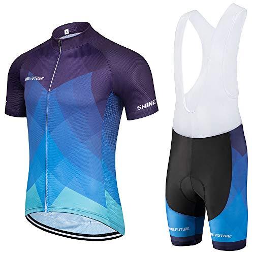 shine future – Conjunto de camiseta de ciclismo para hombre, maillot de...