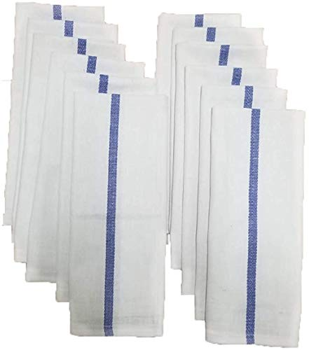 BEST TOWEL - Kitchen Towels - 12 Pack, 100% Natural Cotton Tea Towels 15x25, Dish Towels for Kitchen - Reusable Cleaning Cloths - Super Absorbent, (12)