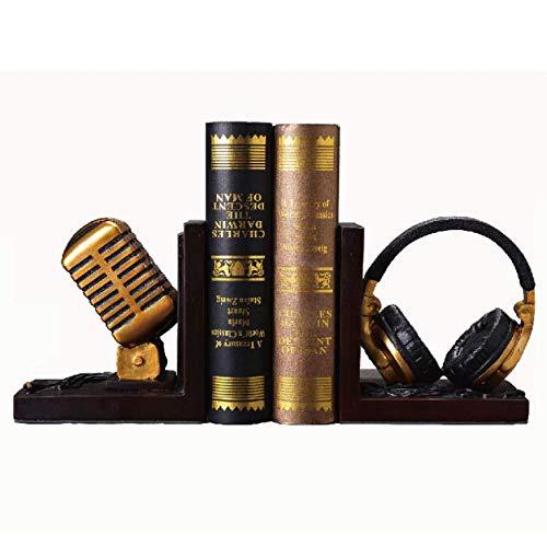 Sujetalibros Micrófono De Un Lado Creativo, Dormitorio Estantería Empuje Oficina del Libro del Clip, Retro Mobiliario Decorativo Joyería