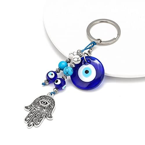 VIOYO Llavero Lucky Blue Eyes Adornos de Mano Llavero Llavero Llavero de Coche para Hombres y Mujeres Colgantes