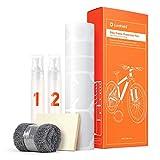 Luxshield Película Protectora de Pintura para Bicicleta de Montaña, BMX, Carretera, Trekking, etc. - Conjunto para Cuadro de 21 Piezas contra Golpes de Piedras - Transparente y Autoadhesivo