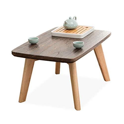 Tables basses Meubles Petite Table Salon Solide Table de thé en Bois lit Ordinateur de Bureau Jardin Petite Table de Camping Balcon étage Tables (Color : Wood, Size : 80 * 40 * 30cm)