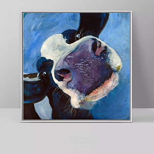 Kunst Hochland Vieh Tier Ölgemälde Farbe Leinwand Wandkunst Wohnzimmer Dekoration rahmenlose Malerei 60x60cm