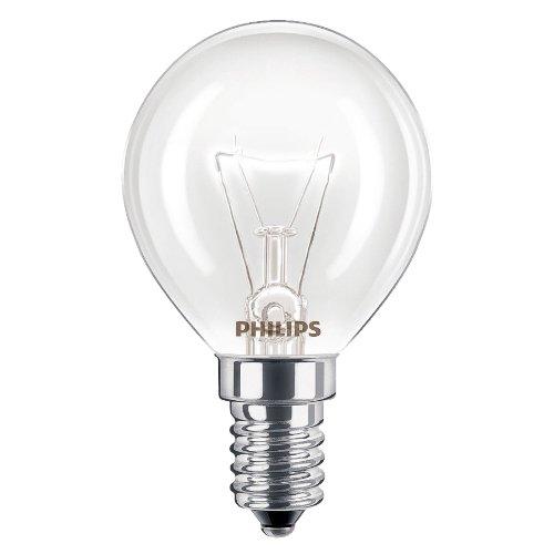 4x Philips Glühlampe für den Backofen, 40W, E14/SES kleines Schraubgewinde 300 Grad Celsius, für den Herd, Glühlampe passt für AEG/Bosch/Siemens/Neff/Hotpoint