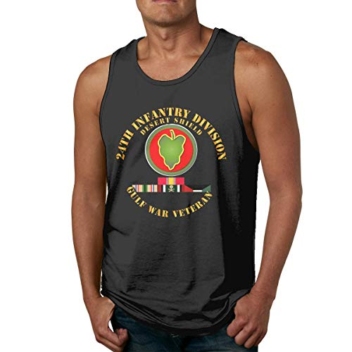 HJYR 24th Infantry Division Mens Casual Sports Camiseta sin Mangas