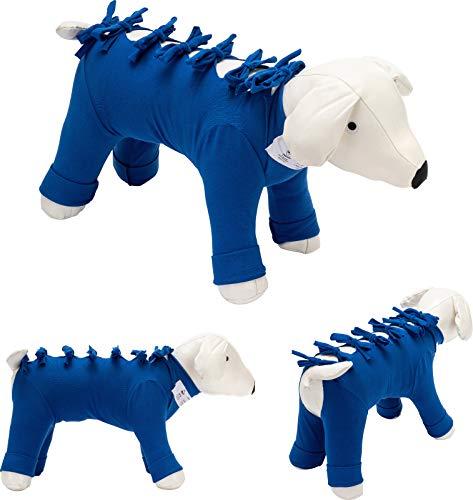 Bendana Postoperativer Anzug für Hunde und Katzen, schützt Wunden und Verbände und lässt dem Tier Seine Bewegungsfreiheit. Modell 031 - für Bauch, Brustkorb und Vorder- und Hinterbeine (XXXS)