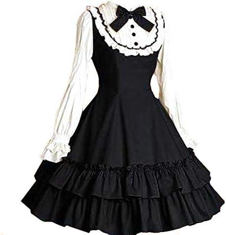 Loli Miss Women Girls Classic Lolita Dress High Waist Skirt Long Sleeve Blouse Halloween Cosplay product image