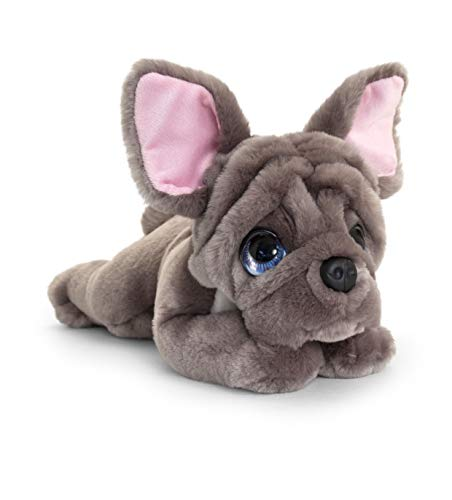 Keel Toys French Bulldog Signature Cuddle Puppy Cute Dog Animal Pet Plush Toy 37cm