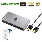 chifans KVM-Schalter HDMI-Anschlussbox USB-Umschalter mit Fernbedienung Perfekt für KVM HDMI-Schalter DVD-Player Monitor Projektor PC Laptop TV-Box