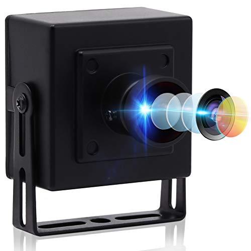 4K Ultra USB Camera HD 2160P Web Camera with Sony IMX317 Sensor with 170 Degree Fisheye Lens, Mini Camera with Aluminum Case Webcamera UVC Support,USB2.0 Plug&Play for PC Mac Laptop Notebook Desktop
