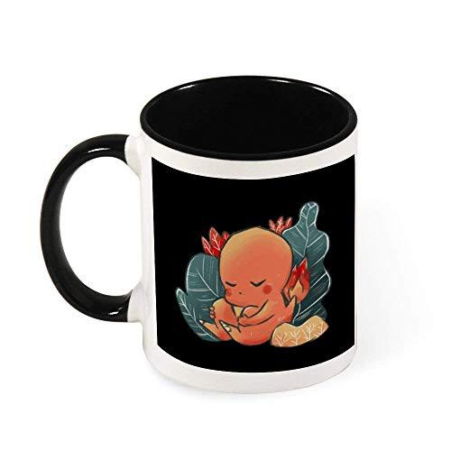 N\A Monstruo de la Bolsa de Dormir Charmander cerámica Taza Taza del té, Regalo para Las Mujeres, Las niñas, Esposa, mamá, Abuela, 11 oz