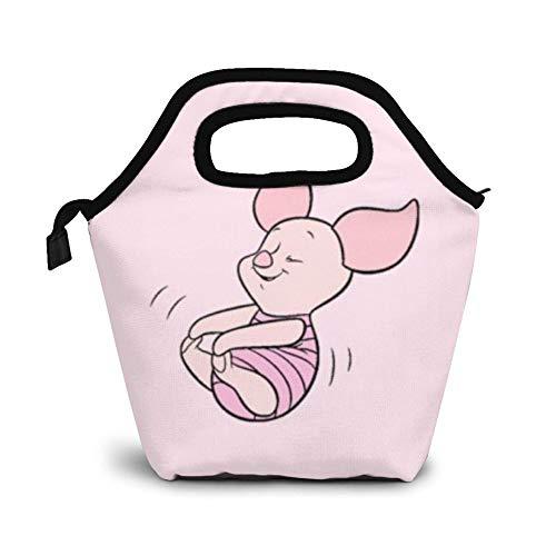 Bolsa de almuerzo aislada Win-Nie-The-Pooh Bolsa de almuerzo a prueba de fugas, reutilizable, con aislamiento térmico, bolsa de almuerzo para oficina, trabajo, escuela, picnic, senderismo, playa, lon