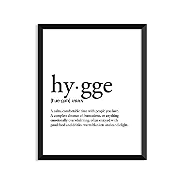 Hygge Definition - Unframed Art Print Poster Or Greeting Card