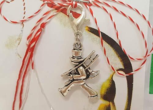 IohanaSchmuck Martisor, Charm, Anhänger als Schornsteinfeger aus Metall, handmade, eigene Herstellung
