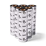 Zebra Standard Black Wax Ribbon for Thermal Transfer Desktop Printers Width 4.33 in Length 242 ft 0.5 in Core 6 Rolls 10031723SP