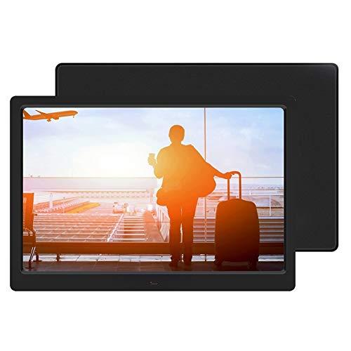SZHWLKJ 14-inch 16: 9 1280 * 800 HD Digital Electronic Photo Frame Supports MP3MP4 Electronic Clock and Electronic Calendar (built-in Battery Of Remote Control) (black American Gauge Plug 100-240V)