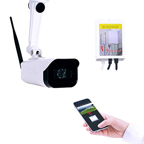 TOPENS TC186 WiFi Garage Door Opener Gate Opener Smartphone Remote Control with Camera, Wireless Outdoor Security Camera, Smart Home Security System iPhone Android Phone APP Controller Night Vision