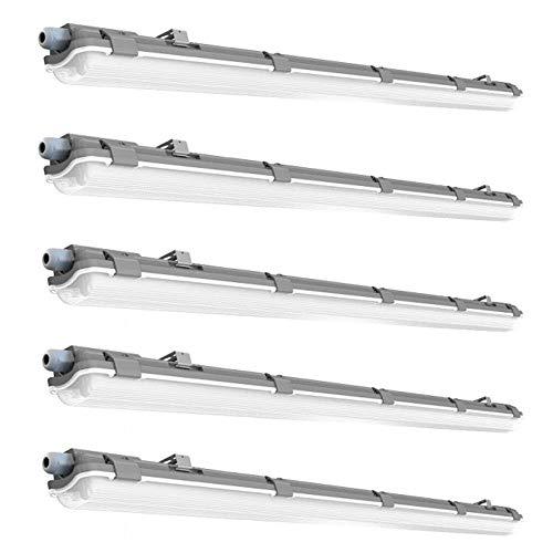 5x LED Wannen Strahler Decken Industrie Lampen Lager Hallen Feucht Raum Röhren