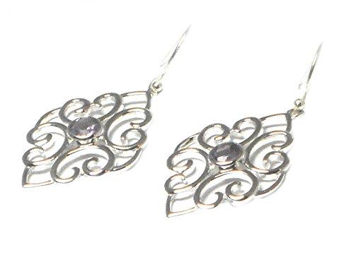 AMETHYST Sterling zilveren Edelsteen oorbellen 925 - (AME0610172)