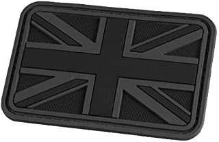 Hazard 4 3D Union Jack UK Flag Morale Patch Black