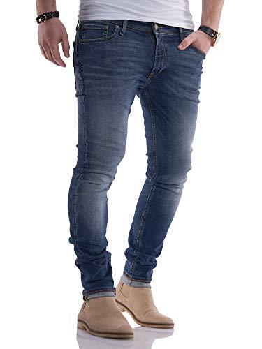 Jack & Jones pour des Hommes Liam Original 005 Jeans Skinny, Bleu, 33W x 36L