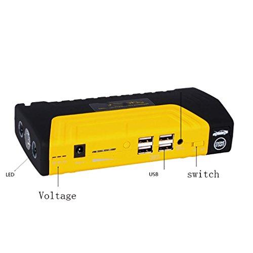 WJJ- Anker Auto Starthilfe Akku Ladegerät mit 600A Spitzenstrom 16800mAh Höherer Sicherheitsschutz, eingebaute LED Taschenlampe