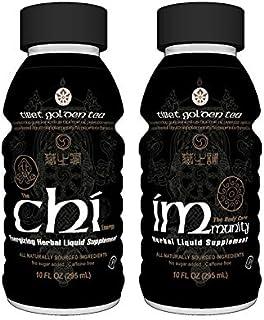 Sponsored Ad - Herb Guru Chi + Immunity Tea 24 Pack (10 oz Bottles) - Caffeine Free No Sugar Added - Energy, Recovery, Imm...