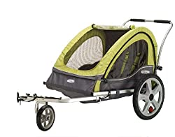 Double jogging stroller bike trailer