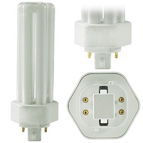 (6 Pack) PLT-26W 841, 4 Pin GX24q-3, 26 Watt Triple Tube, Compact Fluorescent Light Bulb by Circle