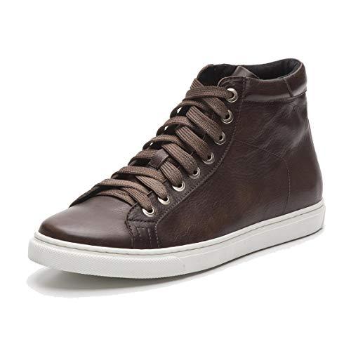 HAMLET VITO all Year Braun Wenge Papua knöchelhoher Sneaker aus edlem Kalbsleder Made in Italy D 43 / UK 9