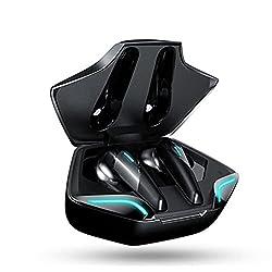 [producto] Auriculares Bluetooth para juegos de alto rendimiento, 5.2 chips duales Bluetooth, 9 horas de acompañamiento continuo, puerto de carga USB, sonido extremo de alta fidelidad, reducción de ruido de micrófono dual [función] Retraso no inducti...