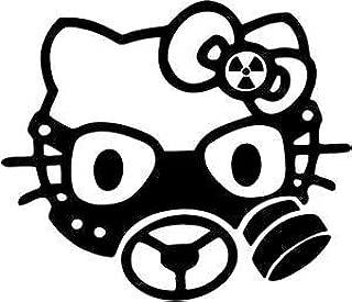 Hello Kitty Gas Mask Vinyl Car Window Wall Decal