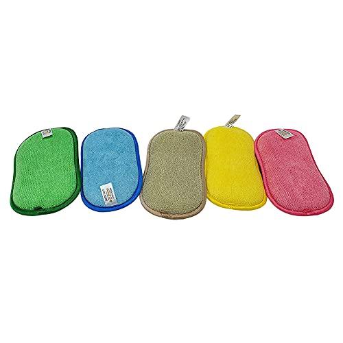WEISHA 5Pcs Esponjas para Platos Esponja de Limpieza para Platos Esponja de Cocina, Esponja de Cocina para Lavar los Platos Cocina Doble Cara Esponjas de Fregado