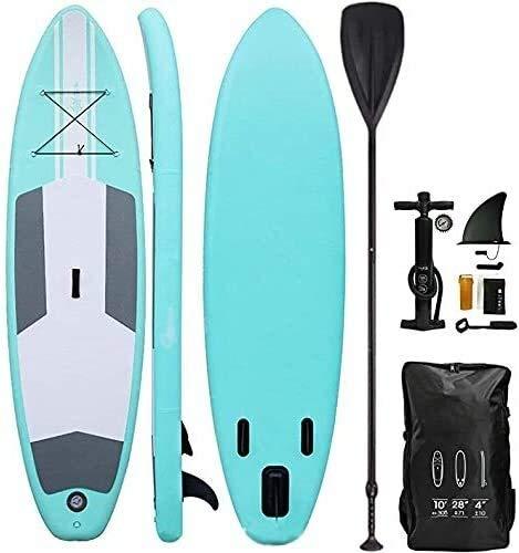 FANLIU Azul de 10 pies del soporte del Consejo Conjunto SUP Paddle Inc, Bomba, Mochila y Correa, Hydro-Force inflable SUP Paddler todas las capacidades adecuadas Ideal principiantes inflable Paddleboa