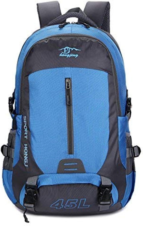 Lounayy Freizeit Multifunktionshebel Outdoor Reisen Mode Beutel Wandern Stylisch Bergsteigen Camping Wasserdichtes Nylon Schultertasche (Farbe   Blau, Größe   One Größe)