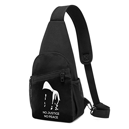 XCNGG There is No Justice, No Peace Chest Backpack Chest Pack Ultra Lightweight Backpack