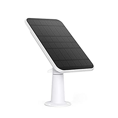 eufy Security Certified eufyCam Solar Panel, Compatible with eufyCam, Continuous Power Supply, 2.6W Solar Panel, IP65 Weatherproof