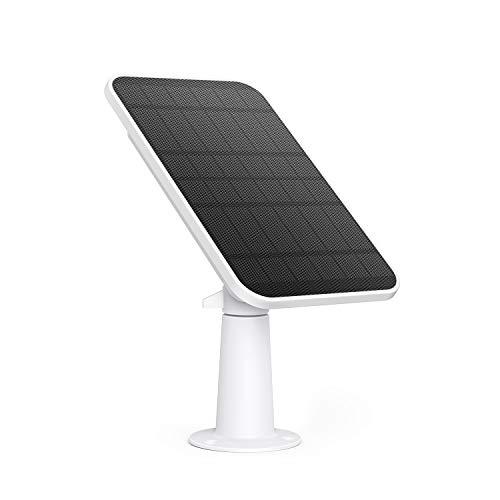 eufy Certyfikat bezpieczeństwa eufyCam panel solarny, kompatybilny z eufyCam, zasilacz ciągły, panel słoneczny 2,6 W, odporność na warunki atmosferyczne IP65