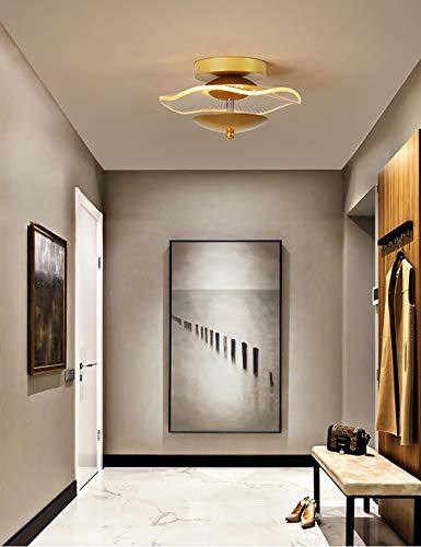 LED Lámpara de Techo Moderna Dorado 38W Luz De Techo Balcón Pasillo Escalera Luz Interior Moderna Acrílico Decorativa Lámpara Pantalla de Lámpara 3000K 23 * 12CM
