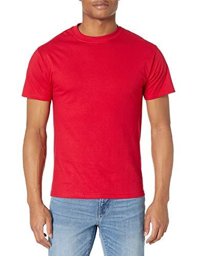 Hanes Men's Short-Sleeve Beefy T-Shirt,Deep Red,2XL